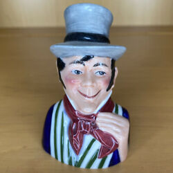1983 Dickens House Museum Sam Weller Porcelain Candle Snuffer Figurine Bust