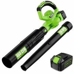 2-in-1 Cordless Leaf Blower - 460 Cfm And 190 Mph Electric Leaf Blower With 4.0ah