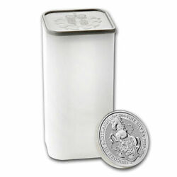 Roll Of 10 2018 Britain 2 Oz Silver Queenand039s Beasts Unicorn Of Scotland