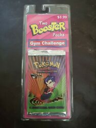 Factory Sealed Gym Challenge Unlimited Pokemon Card Booster Packs Blaine And Koga