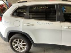 14 Cherokee Passenger Rear Side Door Privacy Tinted Glass White 3034451