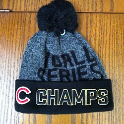 Chicago Cubs World Series 2016 Champions Knit Winter Hat Authentic New Era