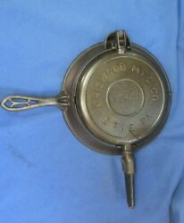 Antique Griswold The American No.8 Cast Iron Waffle Maker Low Base Pat.1893