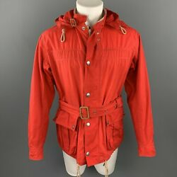 Nigel Cabourn Taille 42 / It 52 Rouge Coton Cirandeacute Fermeture Andeacuteclair And Snaps