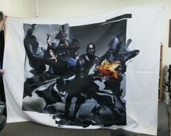 Lebron James And Nike Advertising Banner 115 X 84 Used Has Dirt And Stains On It