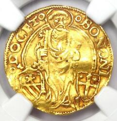 1492 Italy Papal States Bologna Gold Alexander Vi Ducat Coin - Ngc Au Details