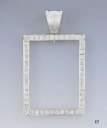 Stunning 18k White Gold And 1.82ct Diamond Picture Frame Pendant