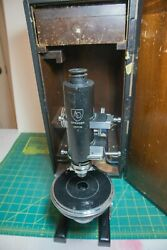 Petrographic Microscope American Optical Spencer Vintage Quartz Wedge Mineral