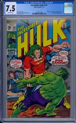 Cgc 7.5 Incredible Hulk 141 1st Appearance Doc Samson O/w Pages