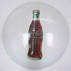 Antique 50and039s 60and039s Coca Cola Metal Button Round Porcelain Signboard Vintage Retro