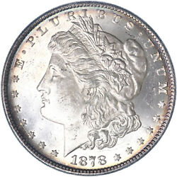 1878 Morgan Silver Dollar 8 Tail Feathers Brilliant Uncirculated See Pics K867