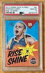 Stephen Curry 2012 Panini Past And Present Rise And039n Shine 81 - Psa 10 Pop 13
