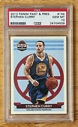 Stephen Curry 2012 Panini Past And Present 144 - Psa 10