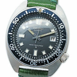 Seiko Diver Automatic 6105-8000 Date Vintage Menand039s Watch 1968 Wl37316