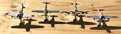 Toy Mark Model Airplanes W/ Stand Lot Of 4 Aircraft, Fighter, War, Military