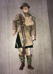 1/6th Scale,ww1 British Black Watch Sideshow -bayonets And Barbed Wire