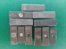 Lot 11x Cpu Ic Chip Intel  Intel A1  Scrap And Recovered Gold
