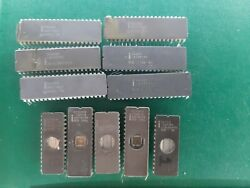 Lot 11 X Cpu Ic Chip Intel  Intel A2 Scrap And Recovered Gold