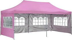 Doit 10ft X 20ft Pop Up Canopy Tent Gazebo For Party Or Campingportable Wheeled