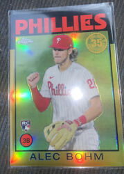 2021 Topps Chrome Alec Bohm Rookie Gold Refractor 35th Anniversary 86 38/50