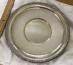 Vintage International Sterling Silver 10andrdquo Round Tray Plate Prelude H229