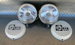 Pair Of Vintage Cibie Super Oscar H1 55w Driving Lights W. Covers