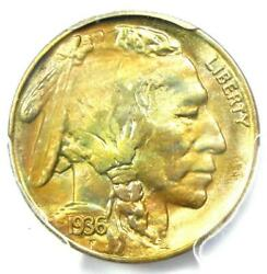 1936-s Buffalo Nickel 5c Coin - Certified Pcgs Ms67 - 1,500 Value
