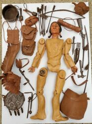 Vintage Marx Chief Cherokee Indian Parts Johnny West Series As Is Plus Accs