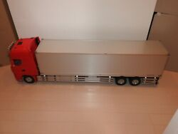 Tamiya 1/14 Trailer Actros Truck W/2 Amps And Servos Transmitter And Receiver F/s Jp