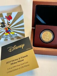 25 Dollar Niue 2019 Mickey Mouse And Friends 1. - 1/4 Oz Gold Pp Mickey Mouse