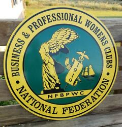Nfbpwc National Federation Business And Professional Womens Clubs 1919 Metal Sign