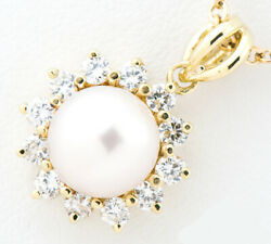 And Co. Pearl Pendant Necklace 18k Yellow Gold Tf2908