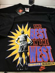 Charles Barkley Nike Best In The West Shirt Vintage 1990s Xl Made In Usa Rare Ds