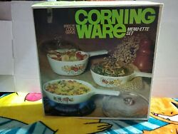 New Vintage Corning Ware And039spice Oand039life 6 Piece Menu-ette Set P-100-8