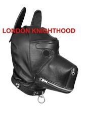 Genuine Leather Dog Puppy Mask Petplay Pet Play Muzzle Fetish Party Bdsm Hood