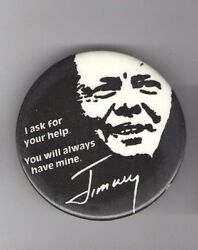 1976 Jimmy CARTER pin Appeal AFRICAN AMERICAN pinback BLACK Voter CIVIL RIGHTS