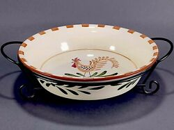 Deep Dish Pie Plate International Silver Co Farmhouse Rooster Plate And Stand
