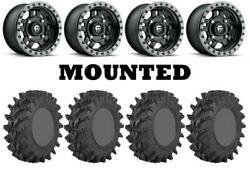Kit 4 Sti Outback Max Tires 32x10-14 On Fuel Anza Matte Black D557 Wheels Fxt