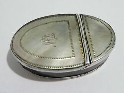 Antique Georgian Silver Mounted Mop Faux Tortoiseshell Snuff Engraved C1800