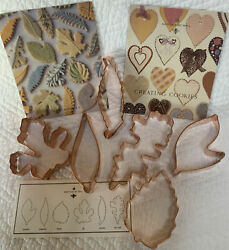 """Martha By Mail Vintage """"capital M Bee"""" Logo 6 Leaves Copper Cookie Cutters/box"""