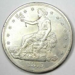 1875-cc Trade Silver Dollar T1 Carson City Coin - Uncirculated Details Unc Ms