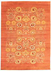 Modern Hand-knotted Carpet 8'10 X 12'3 Oriental Wool Area Rug