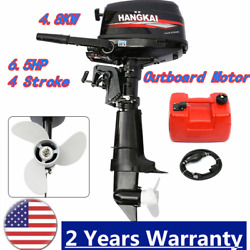 6.5hp 4-stroke Outboard Motor Boat Engine Water-cooling Cdi System Short Shaft