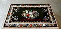 4'x4' Antique Marble Coffee Table Top Multi Mosaic Stone Inlay Garden Nr