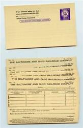 15 Baltimore And Ohio Railroad Property Consigned Has Arrived Postcards