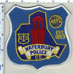 Waterbury Police Connecticut Shoulder Patch From 1992