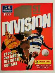 Panini First Division 97 Complete 1st 1997 Excellent Condition Empty Album