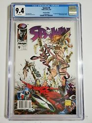 Spawn 9 Cgc 9.4 Newsstand Edition 1st Appearance Angela Rare