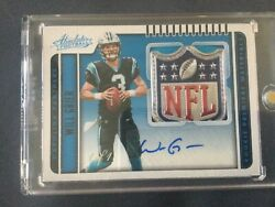 2019 Absolute Will Grier 240 Rc Andldquonfl Shieldandrdquo 1-of-1 Auto Carolina Panthers