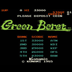 Green Beret Rushand039n Attack Arcade Game Board Konami 1985 Free Shipping From Japan